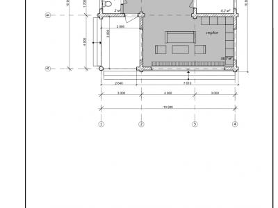 Проект дома из дерева 86,5 м2. 2 этажа. Артикул: ЖД-ПД-2013/07.