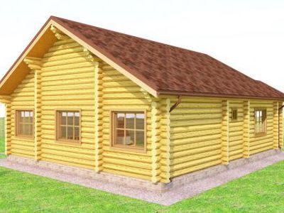 Проект дома из дерева 119,8 м2. 1 этаж. Артикул: ПД-01082014.