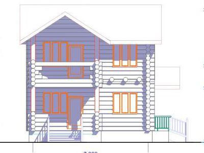 Фасад дома на 69,3 м2