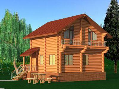 Проект дома из дерева 99 м2. 2 этажа. Артикул: ПД-20131201.