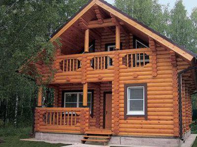 Фотография дома из дерева 106,3 м2. 2 этажа. Артикул: ВТ-ПД-2008/5.
