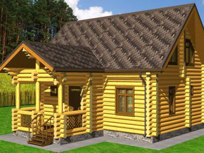 Проект дома из дерева 108,5 м2. 2 этажа. Артикул: ПД-06012015.