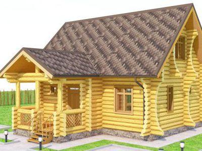 Фотография дома из дерева 108,5 м2. 2 этажа. Артикул: ПД-06012015.