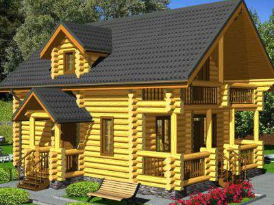 Проект дома из дерева 110,9 м2. 2 этажа. Артикул: ПД-03012015.