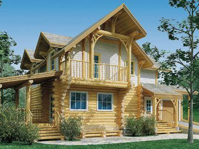 Фотография дома из дерева 119,3 м2. 2 этажа. Артикул: ВТ-ПД-2008/7.