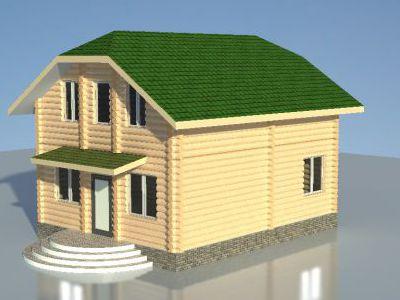 Проект дома из дерева 126 м2. 2 этажа. Артикул: ЖД-ПД-20130801.