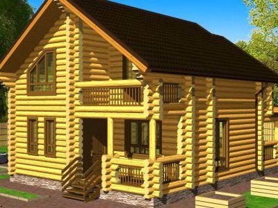 Проект дома из дерева 127,6 м2. 2 этажа. Артикул: ПД-07012015.