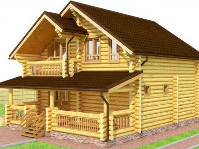 Фотография дома из дерева 127,6 м2. 2 этажа. Артикул: ПД-07012015.
