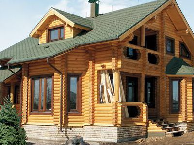 Фотография дома из дерева 149,6 м2. 2 этажа. Артикул: ВТ-ПД-2008/10.