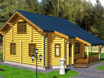 Проект дома из дерева 151,6 м2. 2 этажа. Артикул: ПД-09012015.