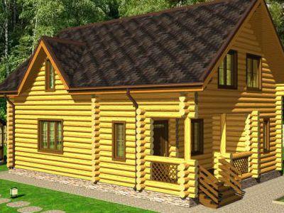 Проект дома из дерева 151,8 м2. 2 этажа. Артикул: ПД-04012015.