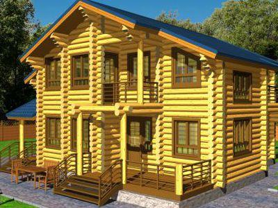 Проект дома из дерева 163,4 м2. 2 этажа. Артикул: ПД-33012015.
