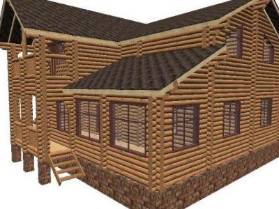Проект дома из дерева 168 м2. 2 этажа. Артикул: ПД-01092014.