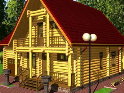 Проект дома из дерева 174 м2. 2 этажа. Артикул: ПД-17012015.