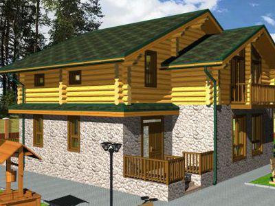 Проект дома из дерева 193 м2. 2 этажа. Артикул: ПД-26012015.