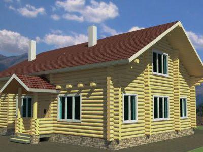 Проект дома из дерева 204,5 м2. 2 этажа. Артикул: ЖД-ПД-20131001.
