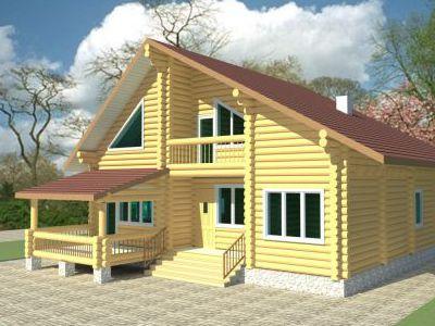 Проект дома из дерева 216 м2. 2 этажа. Артикул: ЖД-ПБ-20130603.