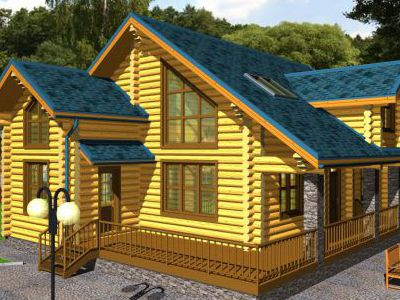 Проект дома из дерева 223,5 м2. 2 этажа. Артикул: ПД-28012015.