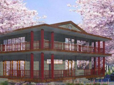 Проект дома из дерева 320 м2. 2 этажа.