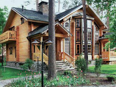 Фотография дома из дерева 306,5 м2. 2 этажа. Артикул: ВТ-ПД-2008/27.
