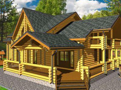 Проект дома из дерева 314,9 м2. 2 этажа. Артикул: ПД-30012015.