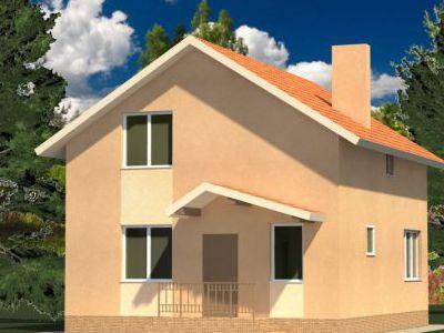 Проект дома из дерева 102,93 м2. Артикул: ЖД ПД-20140701.