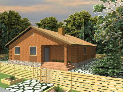 Проект дома из пеноблока 110 м2. Артикул: ДП-8.