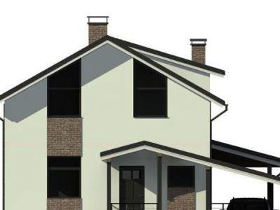 Фотография дома из кирпича 114,32 м2. 2 этажа. Артикул: ДП-4.