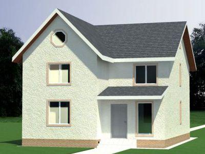 Проект дома из пенобетона 148,11 м2. 2 этажа. Артикул: ЖД КБ - 2-10-14.