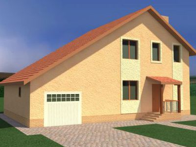 Проект дома из пенобетона 173,88 м2. 2 этажа. Артикул: ЖД ПБ - 20140703.