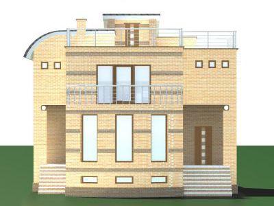 Проект дома из пенобетона 253,73 м2. 3 этажа. Артикул: ЖД ПБ - 20140501.