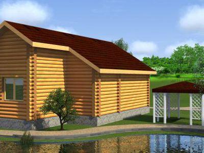 Проект бани из дерева 55,5 м2. Артикул: ПБ-20150616.