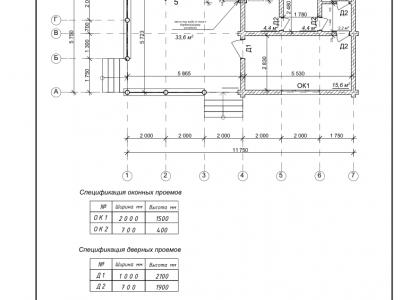 Проект бани из дерева 61,6 м2. Артикул: ЖД-ПБ-20130706.