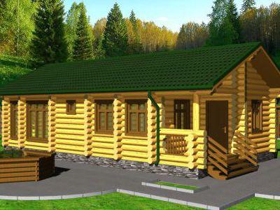 Проект бани из дерева 65,4 м2. Артикул: ПБ-13012015.